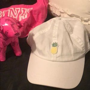 VS PINK pineapple baseball hat. Worn once